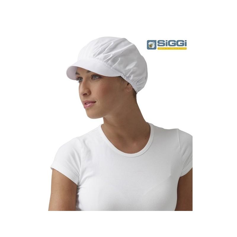 Cuffia da lavoro Ted donna con visera bianca per caseifici ... 9f6e03ab8e78
