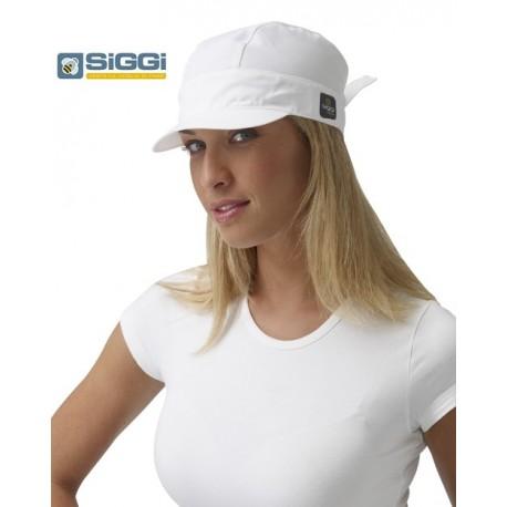Cappello/Bandana da lavoro Liz donna con visera per pasticcerie, panifici, bar-Siggi