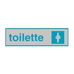 Cartello adesivo toilette Donna