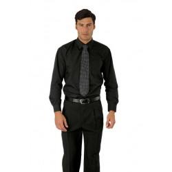 Camicia da lavoro unisex nera per camerieri e barman - Isacco
