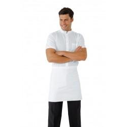 Grembiule da lavoro vita senza tasca 70x46 cm bianco per pizzaioli, cuochi - Isacco