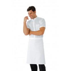 Grembiule da lavoro vita senza tasca 70x60 cm bianco per pizzaioli e cuochi - Isacco
