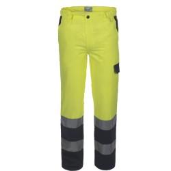 Pantalone da lavoro alta visibilità Lucentex con tasche per operai, operatori ecologici
