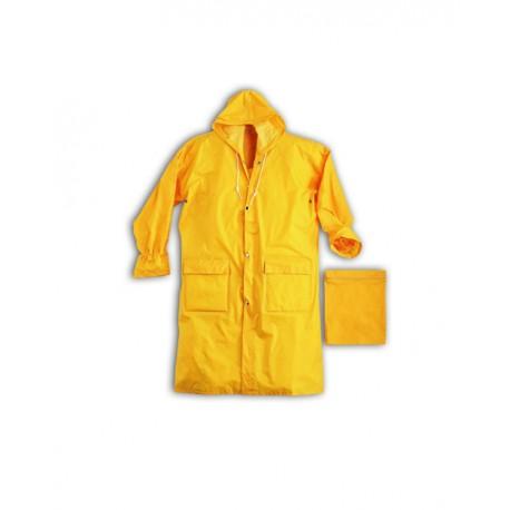 Giacca da lavoro impermeabile antipioggia con cappuccio poliestere in PVC