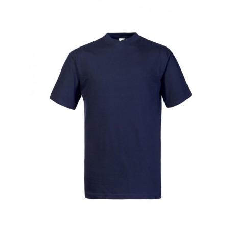 T-shirt da lavoro colorata Take Time scollo a V manica corta unisex