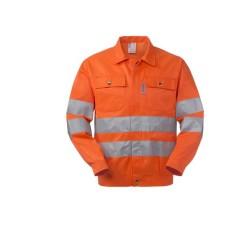 Giubbotto da lavoro alta visibilità arancio 2 cat. per operai, operatori ecologici- Lucentex