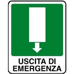 Cartello uscita di emergenza verso basso - avanti 160x210