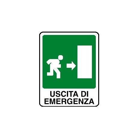Cartello uscita di emergenza verso destra 160x210