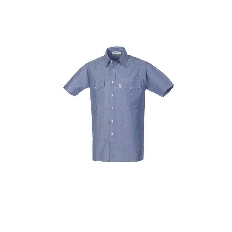 1f04a7df730e21 Camicia Oxford uomo da lavoro manica corta azzurra