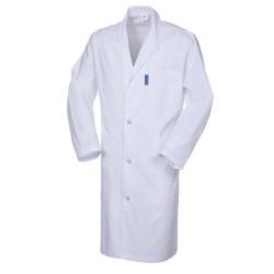 Camice da lavoro uomo con bottoni e taschini bianco-PoliSerio