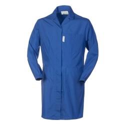 Vestaglia da lavoro donna con bottoni, elastici ai polsi per biologi, dottori- Polibrembo
