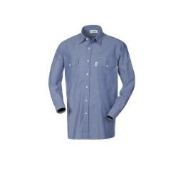 Camicia Brembo uomo da lavoro manica lunga azzurra