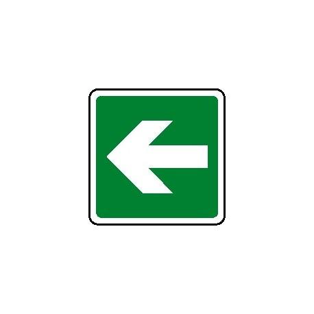 Cartello verso salvataggio - antincendio freccia destra - sinistra120X120