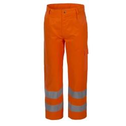 Pantaloni alta visibilità arancio Lucentex cat.2 con tasche per operai