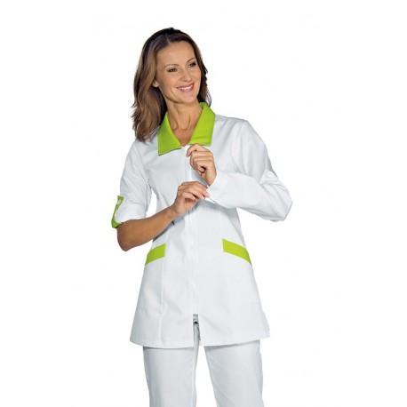 Casacca da lavoro donna Tortola manica lunga per assistenti poltrona, igienista dentale - Isacco