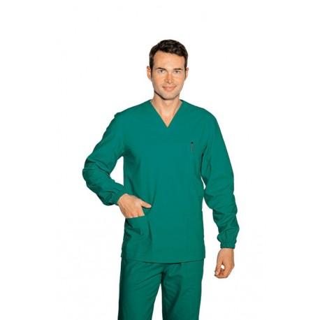 Casacca da lavoro a maniche lunghe collo a V unisex per chirurghi, odontoiatri, odontotecnici - Isacco
