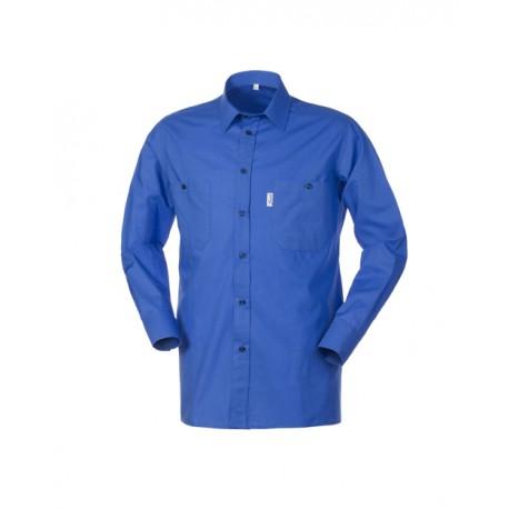 Camicia da lavoro azzurra a manica lunga in cotone uomo- Serio