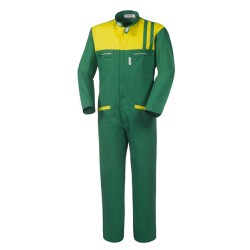 Tuta da lavoro verde e gialla Ginevra per carrozzieri, meccanici, gommisti- Take Time