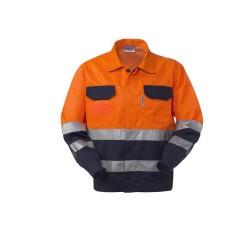 Giubbotto da lavoro bicolore alta visibilità per operai, asfaltisti, manutentori strade- Lucentex
