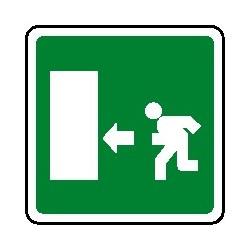 Cartello uscita di emergenza verso sinistra 160X160