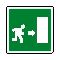 Cartello uscita di emergenza verso destra 160X160