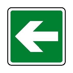 Cartello verso salvataggio - antincendio freccia destra - sinistra160X160