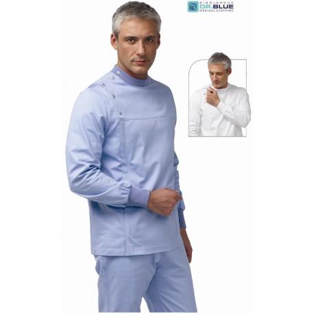Casacca da lavoro uomo Jason per dentista, odontotecnico, fisioterapista- Siggi Dr. Blue
