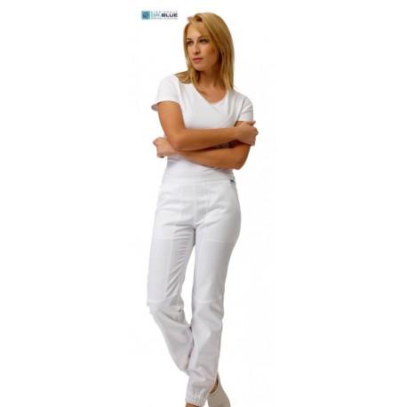 Pantalone da lavoro donna Alyson bianco per personale medico sanitario- Siggi Dr.Blue