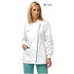 Casacca da lavoro donna Milly manica lunga per infermieri, fisioterapisti- Siggi Dr. Blue