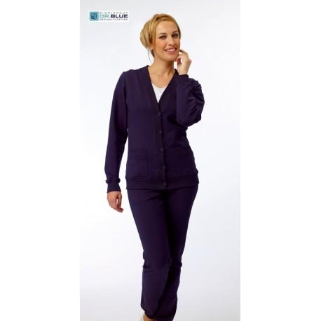 Cardigan da lavoro donna Cloe felpato per infermiere, fisioterapiste, dentisti- Siggi Dr. Blue