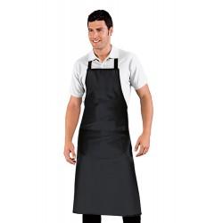 Grembiule nero con pettorina chef/camerieri cm 96x105 - Isacco