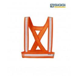 Bretelle da lavoro alta visibilità con bande rifrangenti per asfaltisti, operai- Siggi