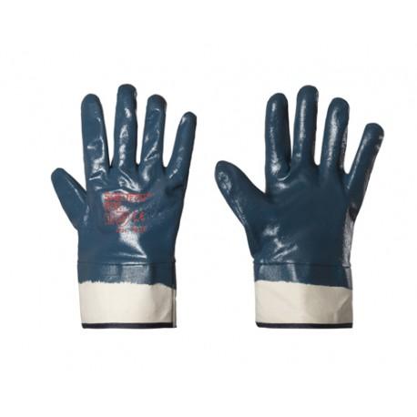 Guanti in NBR con manichetta in tela per rischio meccanico - Sheltech - Confezione da 12 Paia