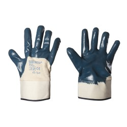 Guanti in nbr con dorso areato e manichetta in tela per rischio meccanico - Sheltech Confezione da 12 Paia