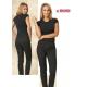 Pantaloni da lavoro donna Happy neri per acconciatrici, estetiste, massaggiatrici- Siggi Beauty