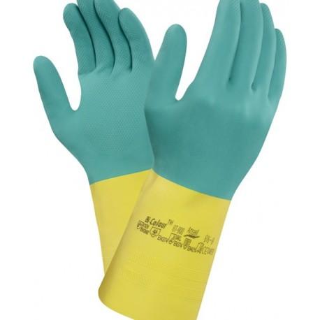 Guanto da lavoro bi-colour 87-900 per maneggio di sostanze chimiche Confezione da 12 paia