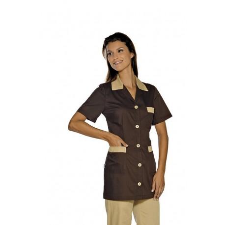 Casacca da lavoro Marbella maniche corte con bottoni e taschino bicolore- Isacco