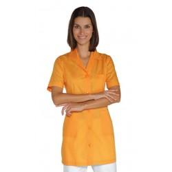 Casacca da lavoro Marbella maniche corte con bottoni e taschino colours - Isacco