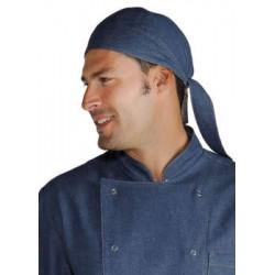 Bandana da lavoro in jeans per cuochi pizzaioli - Isacco f6e27436f69