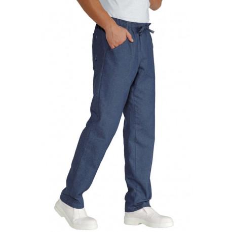 Pantaloni da lavoro in jeans con elastico in vita per cuochi - pasticceri - pizzaioli - chef - Isacco