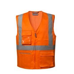 Gilet Ken alta visibilita' estivo arancione - Lucentex