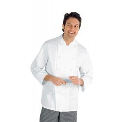 Giacca cuoco Livorno bianca manica lunga taglie forti 3xl-4xl-5xl - Isacco 5b42121b586