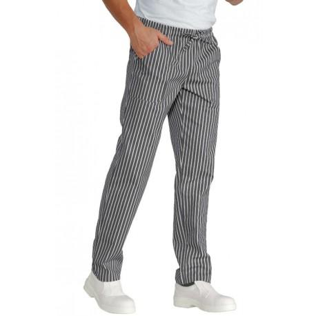 Pantalaccio cuoco linea londra con elastico gessato grigio - Isacco