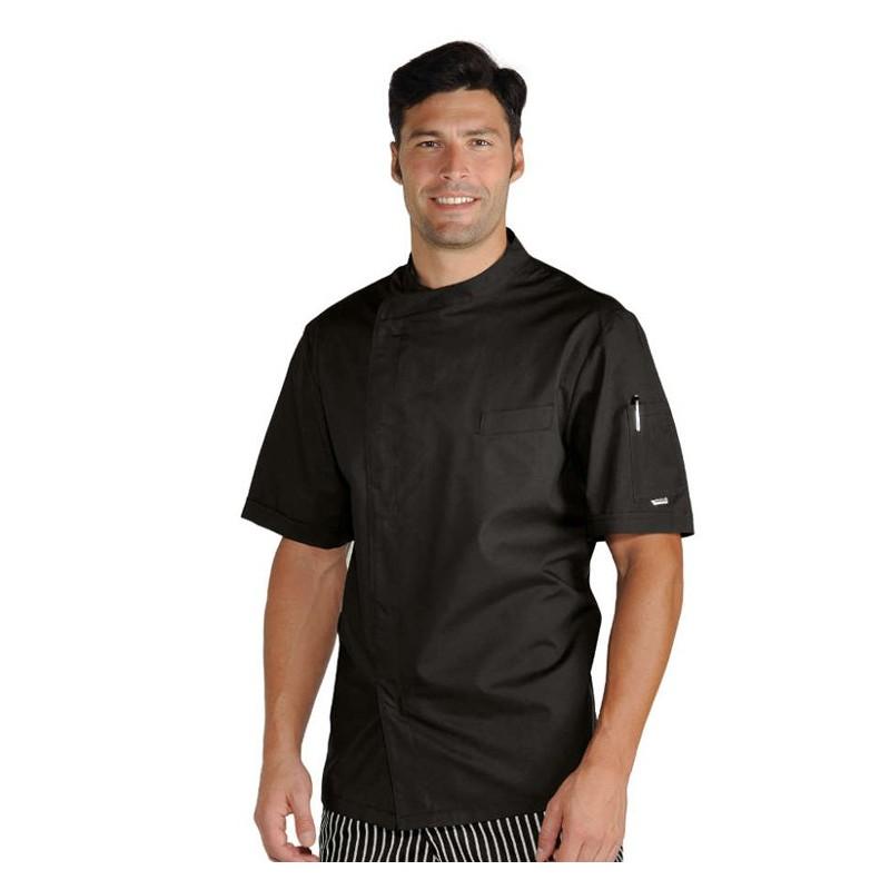 Giacca cuoco Pretoria Extra Light a manica corta con bottoni a pressione -  rete di areazione. Loading zoom c614f2714413