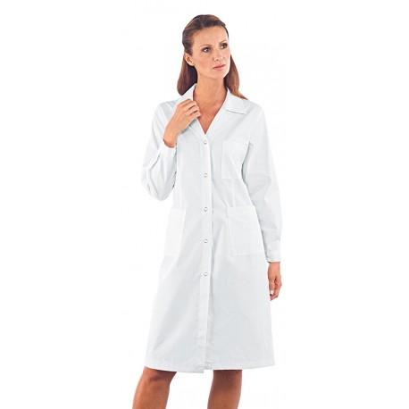Camice donna Antiacido Solforico a manica lunga e bottoni a pressione - Isacco