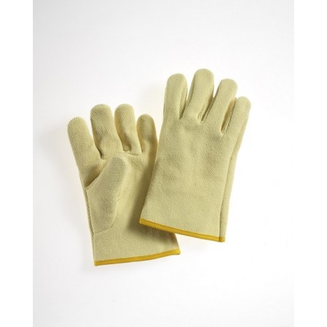 Guanto da lavoro a 5 dita anticalore in fibra aramidica con manichetta da  28 cm