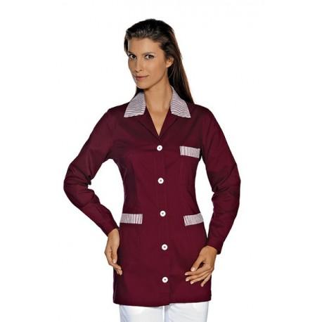 Casacca da lavoro Marbella maniche lunghe con bottoni e taschino rigato per bar, hotel- Isacco