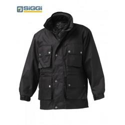 Giubbotto/Parka da lavoro Winter Nero o Blu con giacca interna in microfibra staccabile - Siggi