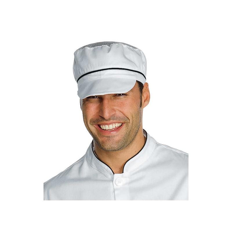 Cappello da lavoro unisex Charly con rete e riporti colorati per panifici -  pizzerie - caseifici - Isacco 0f1d58f9aeb6
