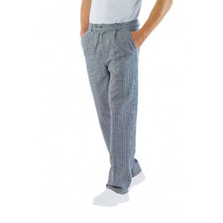 Pantalone cuoco unisex sale e pepe in 100% Cotone con bottoni - Isacco